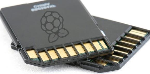 Carte SD avec le logo de la Raspberry PI