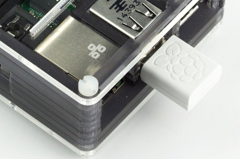 The official Wifi dongle from the Raspberry Pi Foundation