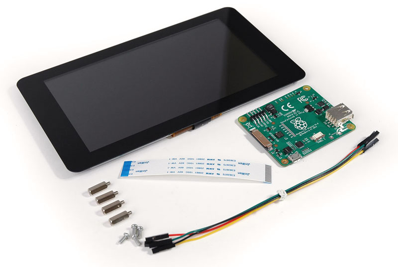 The official Raspberry Pi 7 inch touchscreen display