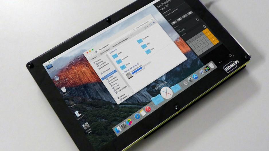 Os X sur la Raspberry Pi en mode flat design