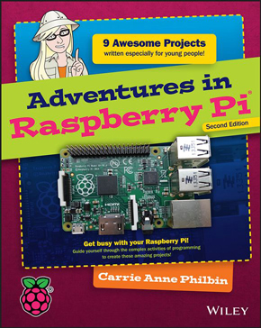 Aperçu du livre Adventures in Raspberry Pi - seconde édition