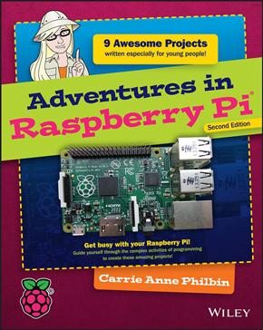 Aperçu du livre Adventures in Raspberry Pi - seconde édition