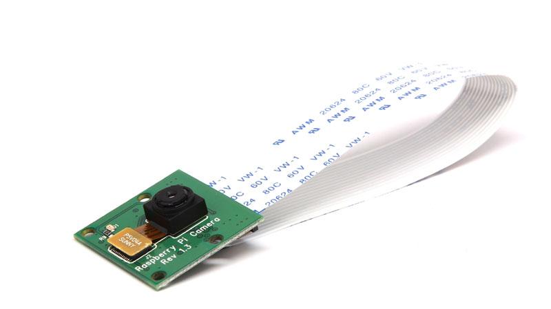 The official picamera, a webcam for the Raspberry Pi.