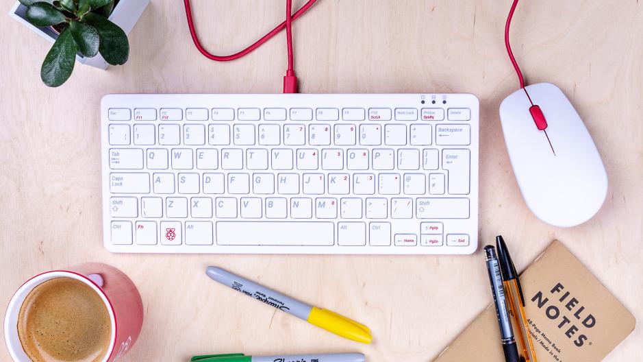 Teclado e mouse oficiais do Raspberry Pi