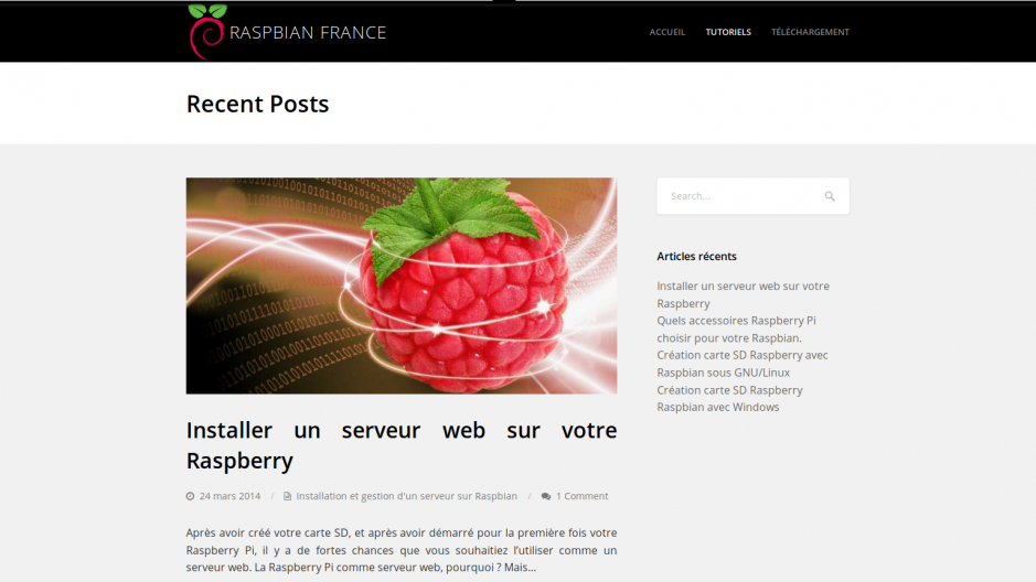 Ancien design raspbian france
