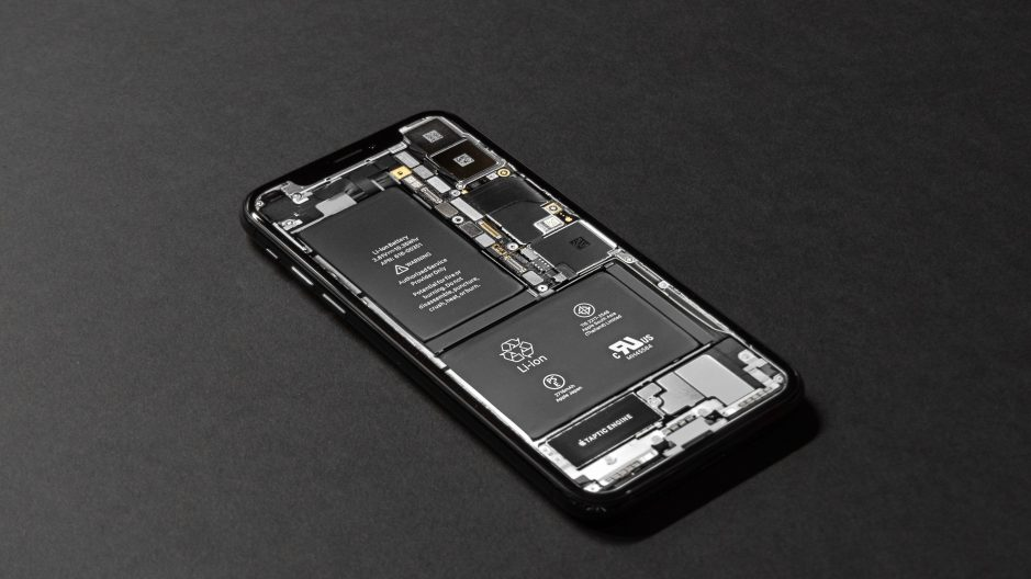 Lithium ion battery in a phone.